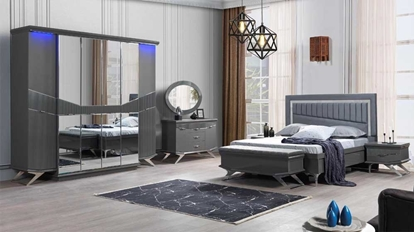 Olivia Yatak Odası Takımı - Antrasit